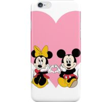Mickey & Minnie - Pink Heart iPhone Case/Skin