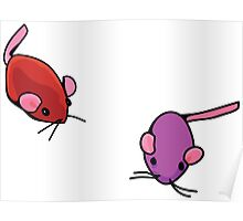 Cat toys - mice Poster