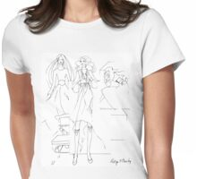 """Helga's Fashion Mannequins Series Poster 1 Big Beads""© Womens Fitted T-Shirt"