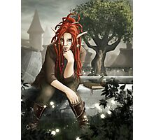 Siteya Ganaya, elf priestess and healer Photographic Print