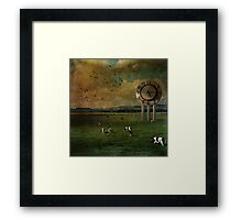 Waiting 'til the Cows come Home Framed Print