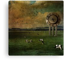 Waiting 'til the Cows come Home Canvas Print
