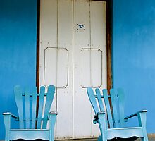 A pair of Rocking chairs, Vinales, Cuba by buttonpresser