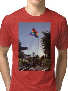 The Rainbow Flag Backlit Tri-blend T-Shirt