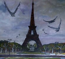The Eiffel tower Paris by Rose Robin
