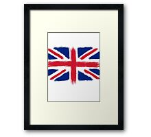 Abstract Union Jack Framed Print