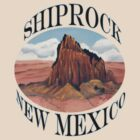 Shiprock New Mexico ~ T-shirt and Sticker by Barbara Applegate