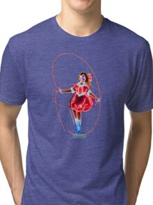 Neon Sign, Skipping Girl Vinegar, Melbourne, Australia  Tri-blend T-Shirt
