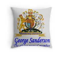 More British BS Throw Pillow