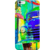 Old Blue Truck Abstract iPhone Case/Skin
