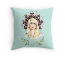 Mandala Girl Throw Pillow