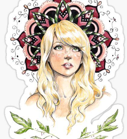 Mandala Girl Sticker