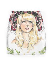 Mandala Girl Mini Skirt