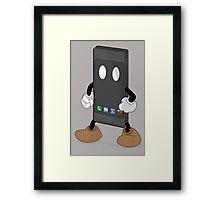 iPhone Man Framed Print