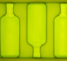 4 green bottles, hanging on a wall ... by Vikram Franklin