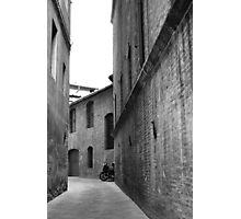 Lonely Moped Photographic Print