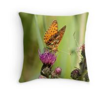 Pearl Bordered Fritillary Throw Pillow