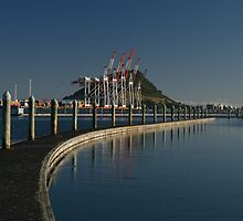 Mount Maunganui from Bridge and Marina by Whole Shot  Photography