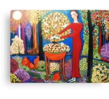 """""""A snake in the garden"""" Canvas Print"""