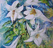WHITE LILIES by BrigitteHintner