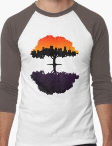 Sunset into Night Men's Baseball ¾ T-Shirt