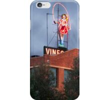 Skipping Girl Neon Sign Red Brick Warehouse iPhone Case/Skin