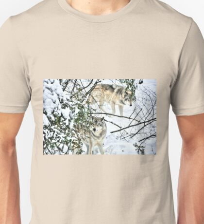 Meet me in the forest - Timber wolves Unisex T-Shirt