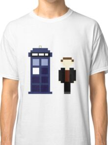 Pixel 9th Doctor and TARDIS Classic T-Shirt