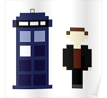 Pixel 9th Doctor and TARDIS Poster
