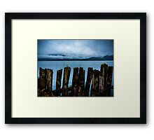 Pier into the Blue Framed Print