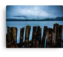 Pier into the Blue Canvas Print
