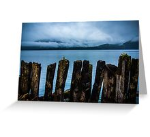 Pier into the Blue Greeting Card
