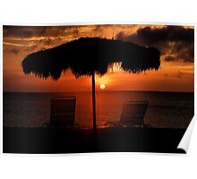 Eagle Beach Sunset Poster