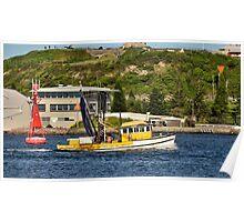 Fishing Boat - Newcastle Harbour NSW Australia Poster