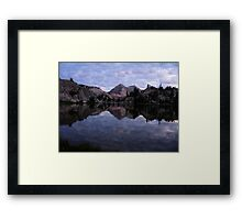 Crown Lake as the Sun Sets Framed Print