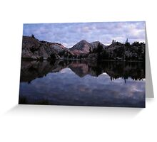 Crown Lake as the Sun Sets Greeting Card