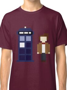 Pixel 11th Doctor and TARDIS Classic T-Shirt