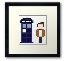 Pixel 11th Doctor and TARDIS Framed Print