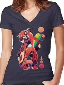 Tear the Roof off the Mothersucka' Women's Fitted V-Neck T-Shirt