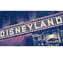 Disneyland Sign Photographic Print