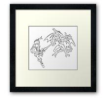 Super Samus Vs Ridley Celtic Framed Print