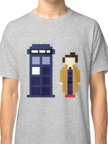 Pixel 10th Doctor and TARDIS Classic T-Shirt