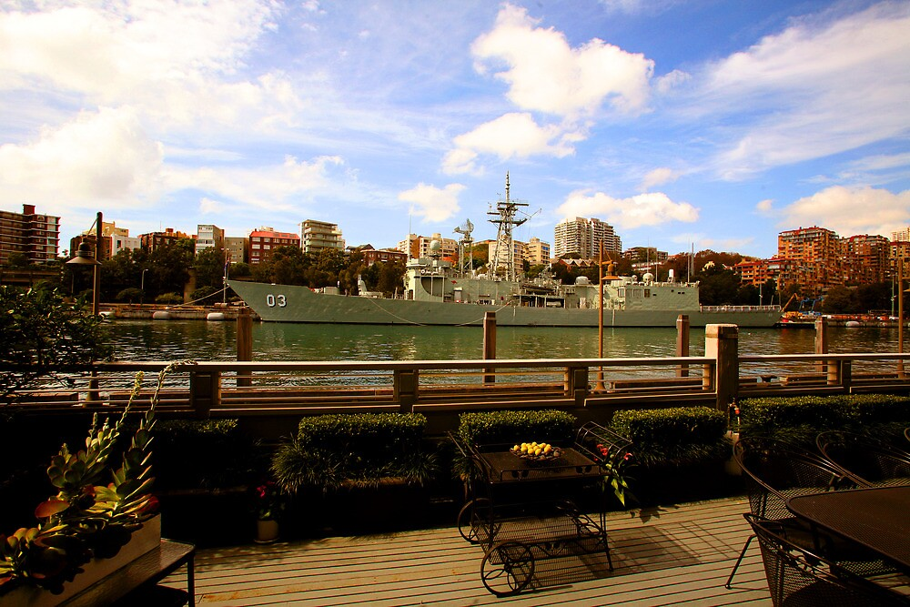 OMG! There's A Battleship In Our Verandah! by Raoul Isidro