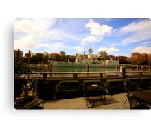 OMG! There's A Battleship In Our Verandah! Canvas Print