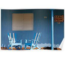 Dog Sleeping at Casa Gonzalo, Vinales, Cuba Poster