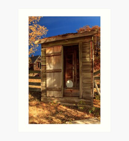The Old Outhouse Art Print
