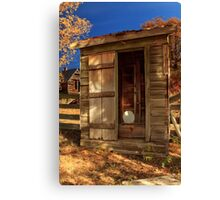 The Old Outhouse Canvas Print