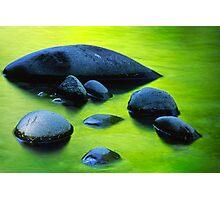 River Rocks Photographic Print