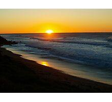 Sun rising at Coalcliff Photographic Print
