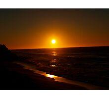 dark sun rising Photographic Print
